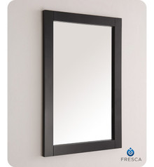 "FMR2302BL Fresca Hartford 20"" Black Traditional Bathroom Mirror"