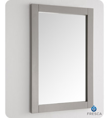 "FMR2302GR Fresca Hartford 20"" Gray Traditional Bathroom Mirror"