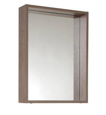 "FMR8070GO Fresca Potenza 21"" Gray Oak Mirror with Shelf"