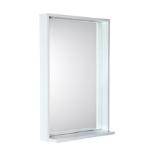 "FMR8125WH Fresca Allier 22"" white Mirror with Shelf"