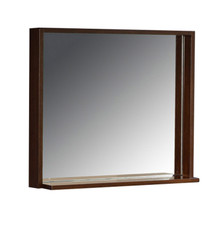 "FMR8130WG Fresca Allier 30"" Wenge Mirror with Shelf"