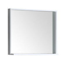 "FMR8130WH Fresca Allier 30"" white Mirror with Shelf"
