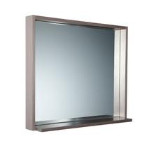 "FMR8136GO Fresca Allier 36"" Gray Oak Mirror with Shelf"
