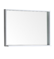 "FMR8136WH Fresca Allier 36"" white Mirror with Shelf"