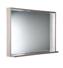 "FMR8140GO Fresca Allier 40"" Gray Oak Mirror with Shelf"