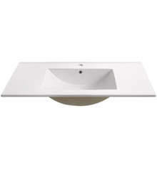"FVS6236WH Fresca Torino 36"" White Integrated Sink / Countertop"