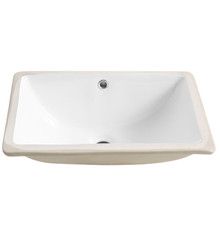 "FVS8119WH Fresca Allier White Undermount Sink 18.25"" W x 13.38"" D x 7.5"" H"