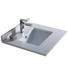 "FCT2024WH-U Fresca Oxford 24"" White Countertop with Undermount Sink"