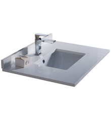 "FCT2030WH-U Fresca Oxford 30"" White Countertop with Undermount Sink"