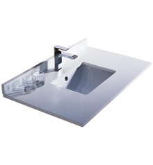"FCT2036WH-U Fresca Oxford 36"" White Countertop with Undermount Sink"