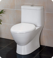FTL2346 Fresca Serena One-Piece Dual Flush Toilet w/ Soft Close Seat