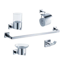 FAC1100 Fresca Glorioso 5-Piece Bathroom Accessory Set - Chrome