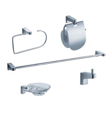 FAC2300 Fresca Generoso 5-Piece Bathroom Accessory Set - Chrome