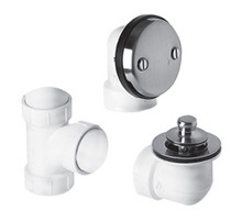 Mountain Plumbing  BDWPLTA-CPB  Economy Lift & Turn Plumber's Half Kit for Bath Waste and Overflow  - Polished Chrome