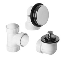 Mountain Plumbing  BDWUNLTP-CPB  Deluxe Lift & Turn Plumber's Half Kit for Bath Waste and Overflow  - Polished Chrome