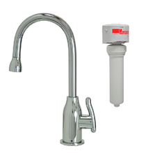 Mountain Plumbing MT1803FIL-NL-SC Point-of-Use Drinking Faucet & Mountain Pure Water Filtration System - Satin Chrome