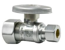 Mountain Plumbing MT410-NL-PN Brass Oval Handle Straight Valve - Polished Nickel