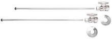 Mountain Plumbing MT4127-NL-SC Lavatory Supply Kit - Straight - Satin Chrome