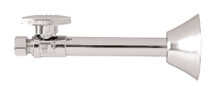 Mountain Plumbing MT317-NL-SC Brass Oval Handle Straight Sweat Valve - Satin Chrome
