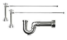 Mountain Plumbing MT629MASS-NL-BRN New England Lavatory Supply Kit - Angle Sweat - Brushed Nickel