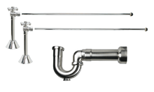 Mountain Plumbing MT629MASS-NL-SC New England Lavatory Supply Kit - Angle Sweat - Satin Chrome