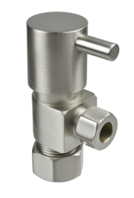 Mountain Plumbing MT5003L-NL-PVD Compression Angle Valve - Polished Brass