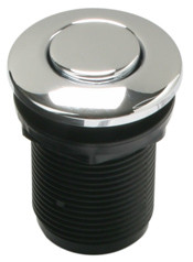 Mountain Plumbing  MT955-BL   Round  Air Switch Push Button for Disposer  - Black