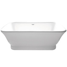 Kingston Brass VTDE713524 71 Inches Contemporary Double Ended Acrylic Bath Tub With Drain - White