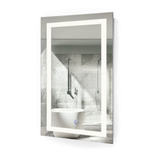 "Vanity Bathroom LED Lighted Mirror With Dimmer & Defogger - 18 ""x 30 ""  Icon"