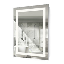 """LED Lighted Bathroom Mirror With Dimmer & Defogger - Icon 24 """" x 36 """""""