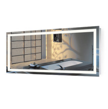 "LED Lighted Vanity Mirror with Dimmer & Defogger - 60 ""  X 30 "" Icon"