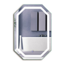 "LED Octagon 20 "" X 30 "" Bathroom Lighted Mirror with Defogger & Dimmer - Tudor by Krugg"