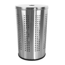 Krugg  BRSS46L 46L Ventilated Brushed Stainless Steel Laundry Bin & Hamper - Clothes Basket