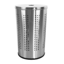 Krugg BRSS46L 46L Ventilated Brushed Stainless Steel Laundry Bin & Hamper - Clothes Basket