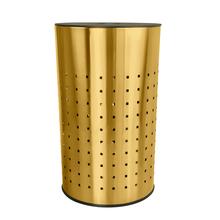Krugg  50L Ventilated Brushed Gold Laundry Bin & Hamper - Stainless Steel Clothes Basket With MDF Lid