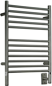 "Amba Jeeves CSMB-20  C Straight Electric Heated Towel Warmer - Matte Black - 20-1/2"" W x 36"" H"