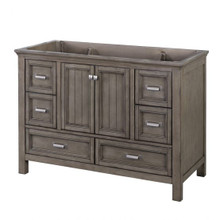 "Foremost BAGV4822D 48"" Brantley Vanity Cabinet 2 Doors, 6 Drawers, 1 Interior Adjustable Shelf - Distressed Grey"