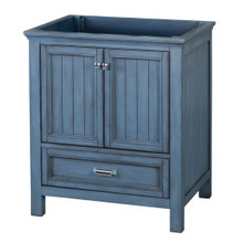 "Foremost BABV3022D 30"" Brantley Vanity Cabinet 2 Doors, 1 Drawer, 1 Interior Adjustable Shelf - Harbor Blue"