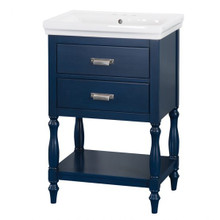 "Foremost CHBVT2435 Cherie 24"" Bathroom Vanity & Sink Combo - Royal Blue"