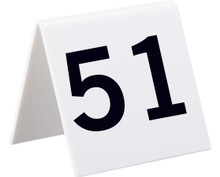 Alpine 493-51-75 Industries Self Standing Number Cards, Numbers 51-75 - White