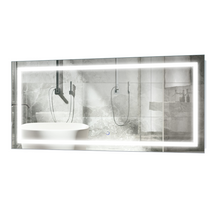 """Vanity Bathroom LED Lighted Mirror with Dimmer & Defogger 48"""" x 24"""" , Icon by Krugg"""