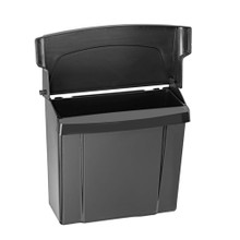 Alpine 451-BLA  Sanitary Napkin Receptacle, Black