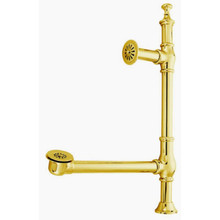 Kingston Brass CC3092 Edwardian British Lever Style Clawfoot Tub Waste And Overflow Drain - Polished Brass