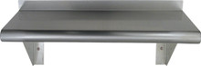Whitehaus CUWS1024-C Culinary Equipment Pre-assembled Stainless Steel Shelf with Bull Nose Edge