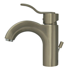 Whitehaus 3-04040-BN Wavehaus Single Handle Lavatory Faucet with Pop-up Drain  - Brushed Nickel