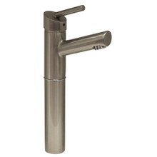 "Whitehaus 3-3245-BN Centurion Single Handle Elevated Lavatory Faucet with 7"" Extension and Short Spout - Brushed Nickel"