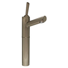 "Whitehaus 3-3344-BN Centurion Single Hole Stick Handle Elevated Lavatory Faucet with 7"" Extension and Long Spout - Brushed Nickel"