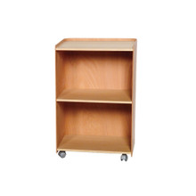 Whitehaus AECA55N Aeri Large Wood Cart with Three Shelves and Casters - Natural (Birchwood)