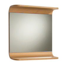 Whitehaus AEM055N Aeri Rectangular Mirror with Integral Wood Shelf - Natural (Birchwood)