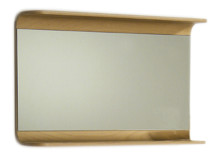 Whitehaus AEM085N Aeri Rectangular Wall Mount Mirror with Integral Wood Shelf - Natural (Birchwood)
